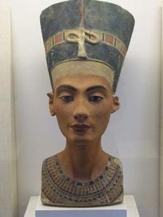 Queen Nefertiti. The Nefertiti Bust is a 3300-year-old painted limestone bust of Nefertiti, the Great Royal Wife of the Egyptian Pharaoh Akhenaten. It is believed to have been crafted in 1345 BC by the sculptor Thutmose.
