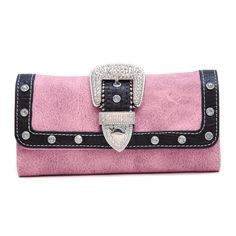 Dasein Western Rhinestone buckle checkbook wallet - Pink Cute Wallets, Christmas Clothes, Westerns, Pink, Coin Purse, Pouch, Shoulder Bag, Purses, Bags