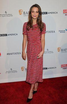 Alicia Vikander in Altuzarra – BAFTA Los Angeles Awards Season Tea in LA - January 9, 2016