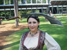 Sophia Fairesword at The Koka Booth Amphitheatre performing for The North Carolina Symphony's night of pirate music