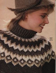 59 super Ideas for crochet sweater women winter fair isles Sewing Stitches, Baby Knitting Patterns, Knitting Designs, Icelandic Sweaters, Fair Isle Knitting, Sweater Design, Hand Work Embroidery, Lana, Knit Crochet
