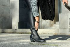 Black booties pull and bear  botines negros pull and bear