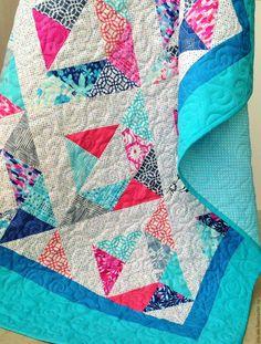 БАУНТИ лоскутное покрывало пэчворк - бирюзовый, лоскутное шитье, лоскутное одеяло, лоскутное покрывало