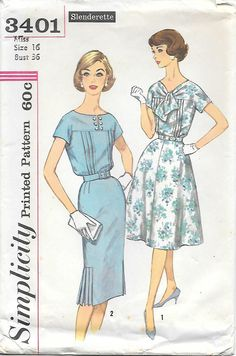 1960s Pin Tuck Dress with Two Skirts by GrandmaMadeWithLove