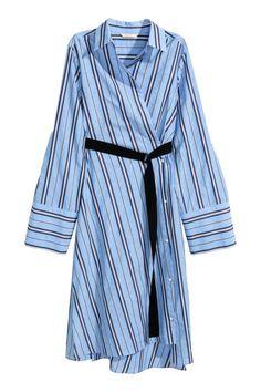 M /& s autograph femme bleu /& blanc à rayures tissé shift dress