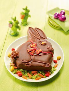 Lustiger Osterhase -  Ein Rührkuchen mit Eierlikör und Marzipan zu Ostern