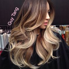 """2,156 Likes, 134 Comments - Guy Tang® (@guy_tang) on Instagram: """"Guy Tang signature ombré lights with my awesome client Kim #guytang #guytanghair #weho #ombre…"""""""