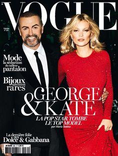 October 2012 Vogue Paris Kate Moss George Michael - More lusciousness at http://mylusciouslife.com/vogue-magazine-covers-2000-2012/