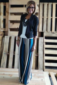 The ZigZag Stripe - Teal WorkPlace Palazzos, $30.00 (http://www.zigzagstripe.net/teal-workplace-palazzos/)  Use discount code PinZZS and save 20% off your total! #businesswear #palazzopants