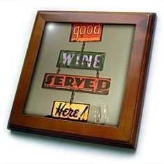 """Wine tasting room - LI06 JMI0000 - Janis Miglavs - 8x8 Framed Tile by 3dRose. $22.99. Inset high gloss 6"""" x 6"""" ceramic tile.. Keyhole in the back of frame allows for easy hanging.. Cherry Finish. Dimensions: 8"""" H x 8"""" W x 1/2"""" D. Solid wood frame. Wine tasting room - LI06 JMI0000 - Janis Miglavs Framed Tile is 8"""" x 8"""" with a 6"""" x 6"""" high gloss inset ceramic tile, surrounded by a solid wood frame with pre-drilled keyhole for easy wall mounting."""