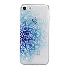 For iPhone 7Plus 7 6sPlus 6 Plus 6s 6 SE 5s 5 TPU Material Half Flower Pattern Stained Phone Case – EUR € 4.89