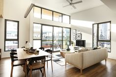 Forte Display Apartment. Sun-drenched open plan living and dining.