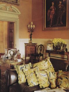 Highclere Castle Photo by Jacques Dirand. The Art of the Room.....where Downton Abbey is filmed