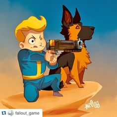 #Repost @fallout_game ・・・ A Boy and His Dog. Great #Fallout4 tribute from HeavyMetalHanzo on DeviantArt.