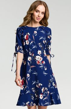 4b0621ede0 Moe M381 sukienka granatowa - Sukienki dzienne - Sukienki damskie - Moda  damska - Sklep internetowy
