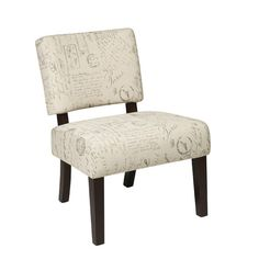 Found it at Wayfair - Jasmine Accent Chair in Script