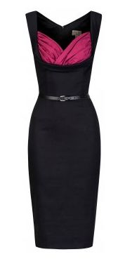 Amazing low-cut pin-up vintage dress from Lindy Bop! Buy here: http://www.lindybop.co.uk/search/vanessa