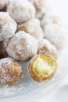 Pączki z mascarpone. Nutella Recipes, Polish Recipes, Beignets, No Bake Cake, Donuts, Ale, Muffin, Food And Drink, Tasty