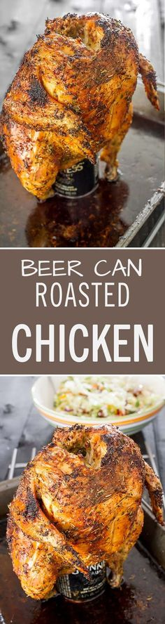 The Juiciest Beer Can Chicken Recipe Grilling Recipes And Traeger Recipes