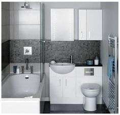 Small bathroom idea, compact & minimalist