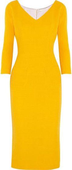Victoria Beckham Wool and Silk Blend Twill Dress