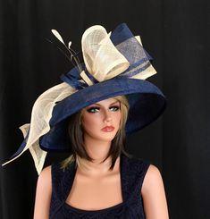 Formal hat for races, Royal Ascot, weddings …designer hat, fashion hat Chapeaux Pour Kentucky Derby, Kentucky Derby Hats, Royal Ascot Hats, Fascinator Hats, Fascinators, Headpieces, Derby Day, Fancy Hats, Church Hats