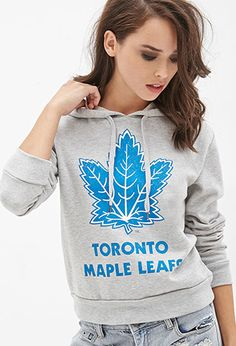 Maple Leafs Graphic Hoodie | Forever21 | in Large