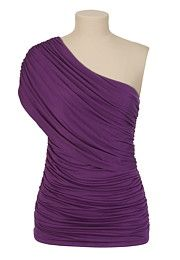 NEW MEDITERANNEO style at Maurice's!  Love the plum, off the shoulder look.