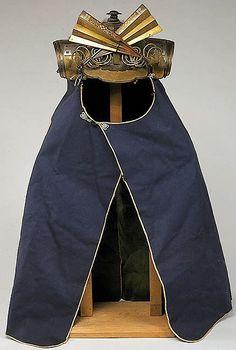 Kaji kabuto (fire helmet) and kaji (hikeshi) shikoro (samurai fire helmet and… Samurai Helmet, Samurai Weapons, Samurai Armor, Arm Armor, Orientation Outfit, Fire Helmet, Battle Dress, Japanese Warrior, Shadow Warrior