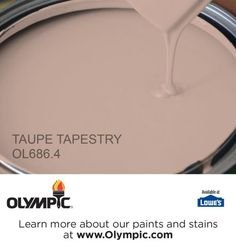TAUPE TAPESTRY OL686.4 is a part of the beiges collection by Olympic® Paint.