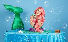 Živý stôl Morská panna  #livingtable #statue #party #costume #littlemermaid #morskapanna #table #zivystol #zivestoly #partystoly #partytable