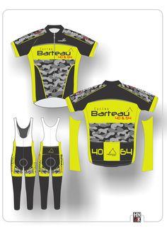 cycles barteau conceptions de vêtements de cyclisme