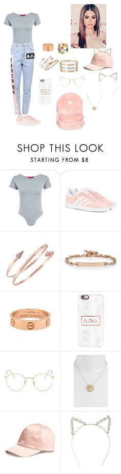 """Glory Days☁️"" by mariaxl ❤ liked on Polyvore featuring Boohoo, Au Jour Le Jour, adidas Originals, BCBGeneration, Hoorsenbuhs, Cartier, Casetify, Ray-Ban, Argento Vivo and H&M"