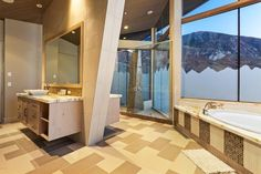 Big Cottonwood Canyon, Salt Lake City, UT Cottonwood Canyon, Modern Mountain Home, Jacuzzi Outdoor, Building A Pool, Architectural Features, Indoor Outdoor Living, Image House, Sliding Glass Door, Luxury Real Estate