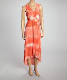Loving this Sweet Pea by Stacy Frati Kaluga Orange Sleeveless Dress - Women on #zulily! #zulilyfinds