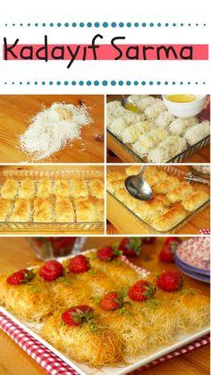 Kadayıf Wrap Recipe (with video) – Sicilian Recipes, Turkish Recipes, Greek Recipes, Beef Tenderloin Recipes, Flank Steak Recipes, Seafood Recipes, Gourmet Recipes, Chicken Recipes, Braciole Recipe Italian