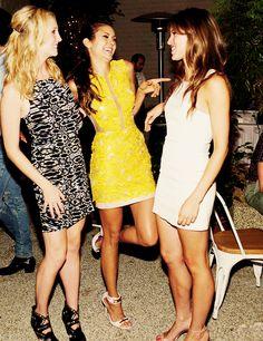 Candice Accola | Nina Dobrev | Kayla Ewell. The Vampire Diaries cast. <3