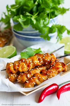 Asian apricot and ginger glazed chicken skewers Wine Recipes, Asian Recipes, Cooking Recipes, Glazed Chicken, Chicken Runs, Chicken Skewers, White Meat, Andalusia, Food For Thought