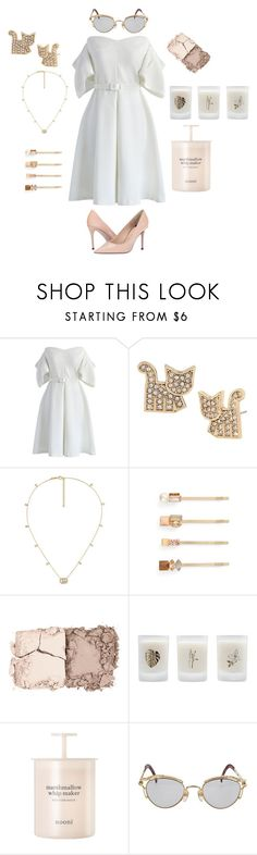 """""""Edged with gold"""" by harpgoddess ❤ liked on Polyvore featuring Chicwish, Betsey Johnson, Gucci, Tasha, Kevyn Aucoin, Elizabeth Scarlett, Jean-Paul Gaultier and Paul Smith"""
