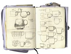 Sketch coffee cups