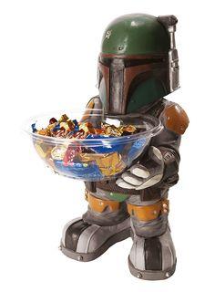 Star Wars Boba Fett Candy Bowl Holder  #starwars #candy #decoration #bobafett