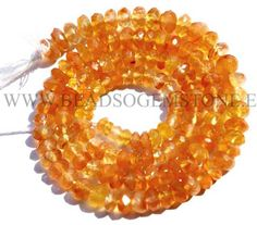 AAA Quality Carnelian Beads In Rondelle Faceted Shape, to mm, 36 cm, Semiprecious Gemstone Beads Semi Precious Beads, Semi Precious Gemstones, Bead Store, Carnelian, Gemstone Beads, Beadwork, Unique Jewelry, Handmade Gifts, Shapes