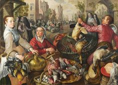 Joachim Beuckelaer Painting - The Four Elements. Air by Joachim Beuckelaer