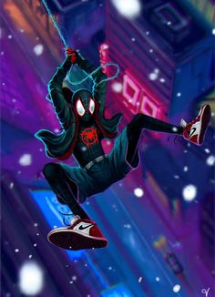 Drawing Marvel Miles Morales - Ultimate Spider-Man, Into the Spider-Verse Marvel Art, Marvel Heroes, Marvel Characters, Marvel Comics, Ms Marvel, Captain Marvel, Spiderman Spider, Spider Gwen, Amazing Spiderman