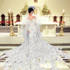 Fantasy Wedding Dresses | More Picture For fantasy wedding gowns Fantasy Wedding Dresses, Wedding Gowns, Bridal Dress Design, Bridal Style, Flare Skirt, Bridal Dresses, Dress Up, Wedding Inspiration, Bridal Fashion