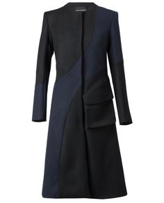 Browns fashion & designer clothes & clothing | PEDRO LOURENCO | Contrasting Tailored Wool Coat