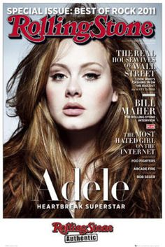 Curvy Covergirls: Singing sensation Adele looks lovely on the cover of Rolling Stone. Do you like Adele? Adele Hair, Adele Love, Adele Style, Non Blondes, Jenifer Aniston, I Love Cinema, Hair Romance, Look Man, Beauty And Fashion