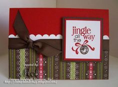 christmas card--remember this  layout for pattern paper card