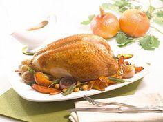 Festliches Putenbraten-Rezept verfeinert mit Kürbis und Salbei. Das mal andere Weihnachtsessen!