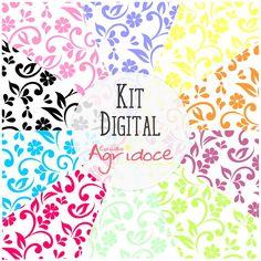 Kit Digital Papéis Floral